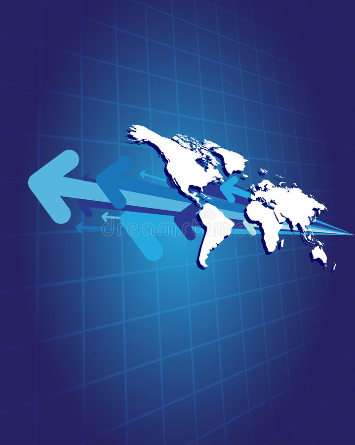World and arrows vector illustration