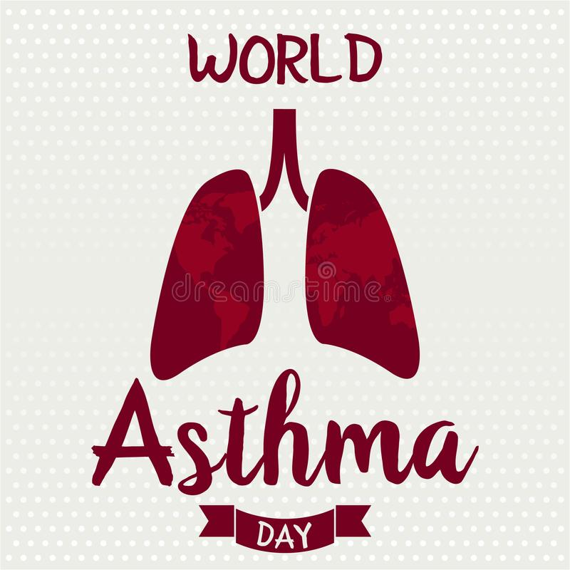 World Asthma Day vector illustration