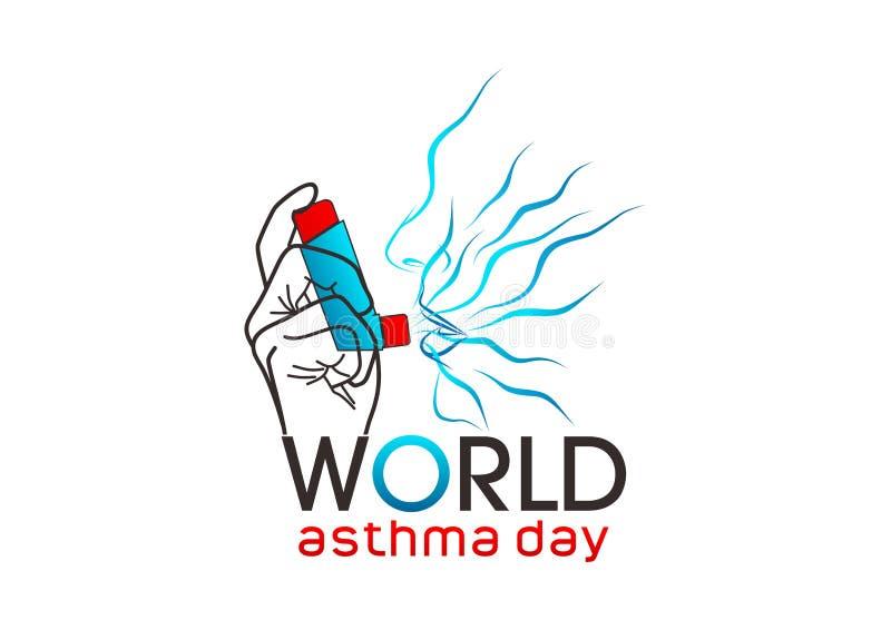 World asthma day stock illustration