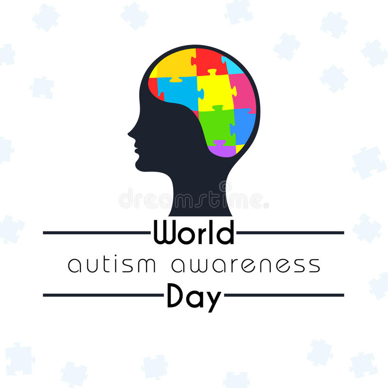 World autism awareness day graphic. Design stock illustration