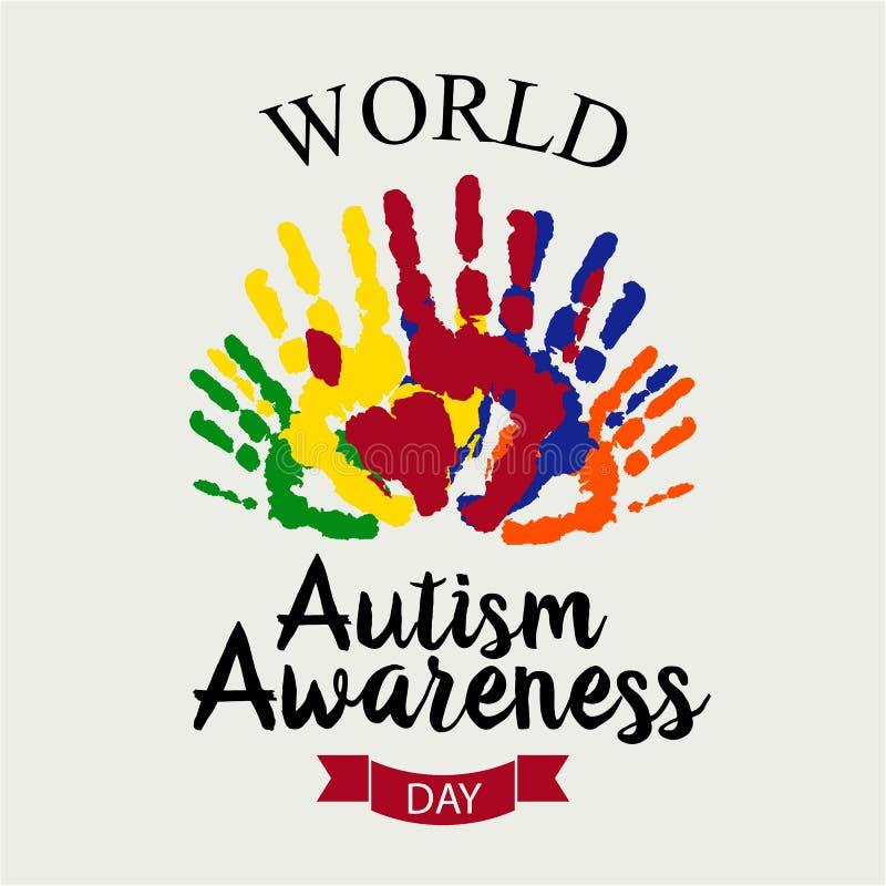 World Autism Awereness Day stock illustration