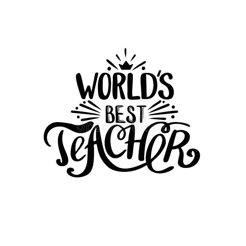 World best teacher royalty free illustration
