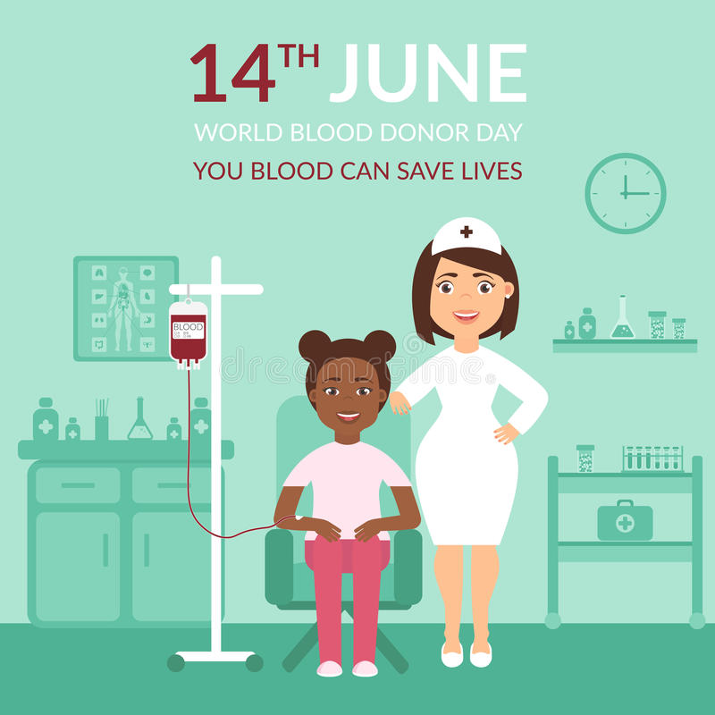 World Blood Donor Day. Medical Banner Your Blood Can Save ...