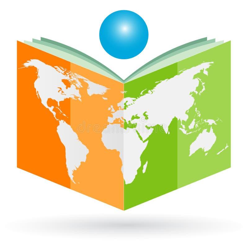 World book. Illustration of world book design on white background stock illustration