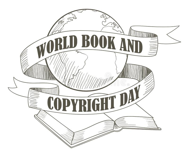 World Book and Copyright Day royalty free illustration