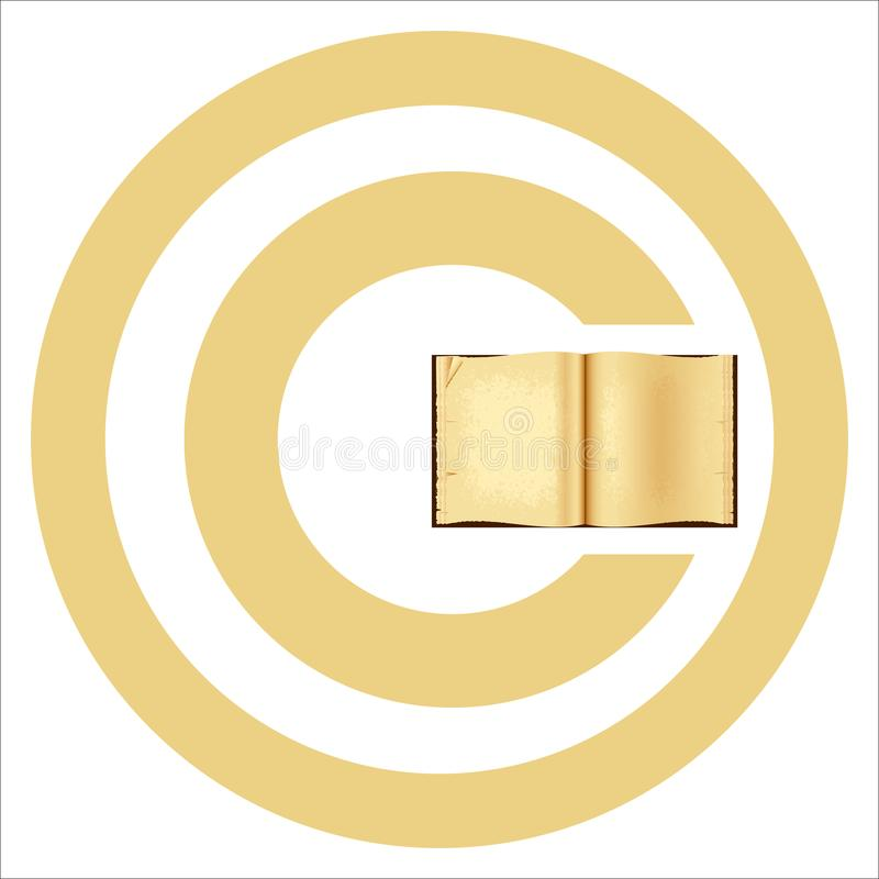 World Book and Copyright Day stock illustration
