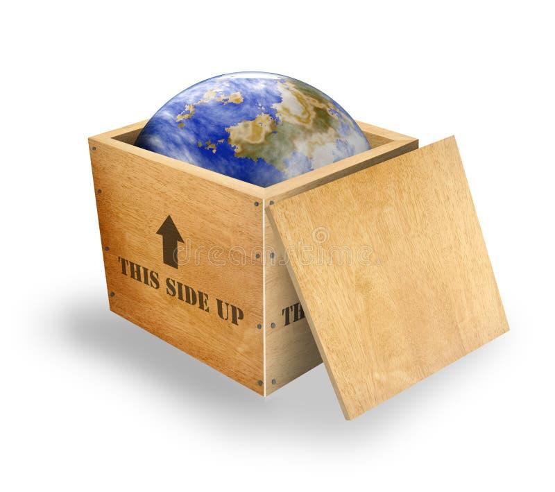 World in a box vector illustration