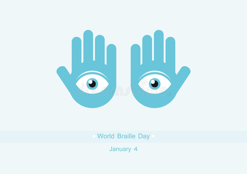 World Braille Day vector royalty free stock photo