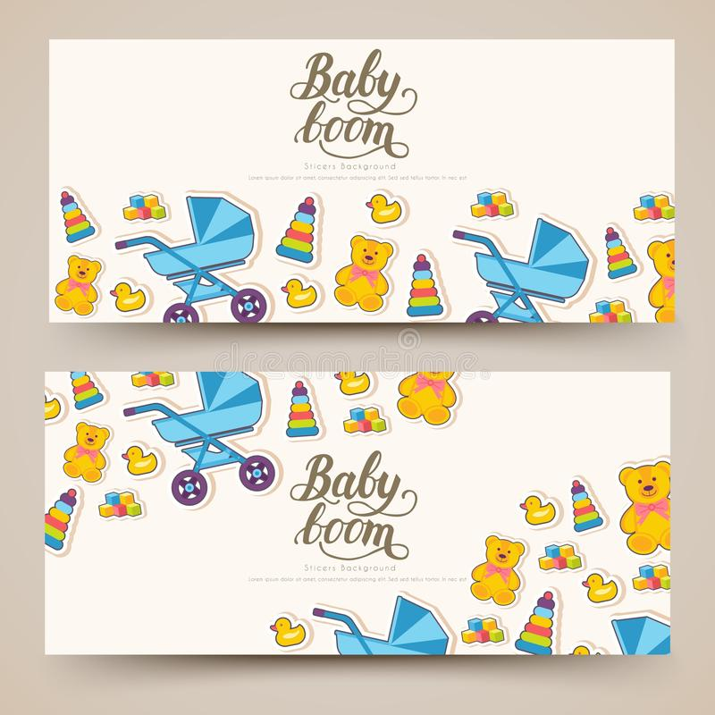 World breastfeeding week cards banners. kids elements of flyear, magazines, posters, book cover, banners. Devices. Infographic concept background. Layout vector illustration
