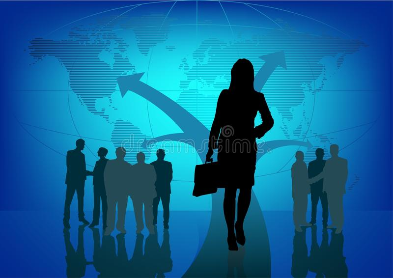 World Business. Global business, concept background, vector royalty free illustration