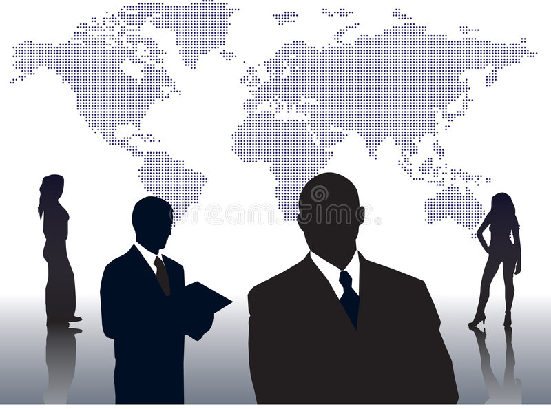World of business people royalty free stock photo