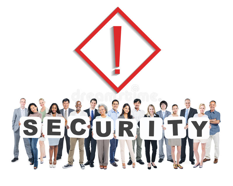 World Business People Holding Word Security stock image
