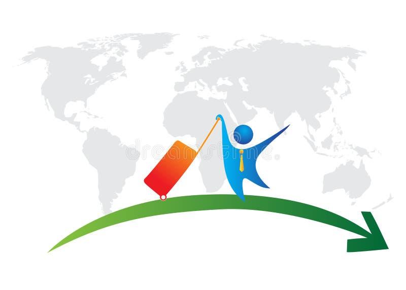 World business tour. Illustration of world business tour design isolated on white background royalty free illustration