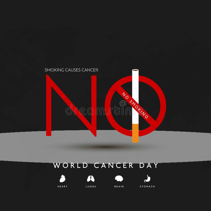 World cancer day design with elegent background vector. This Vector EPS 10 illustration is best for print media, web design, application design user interface vector illustration