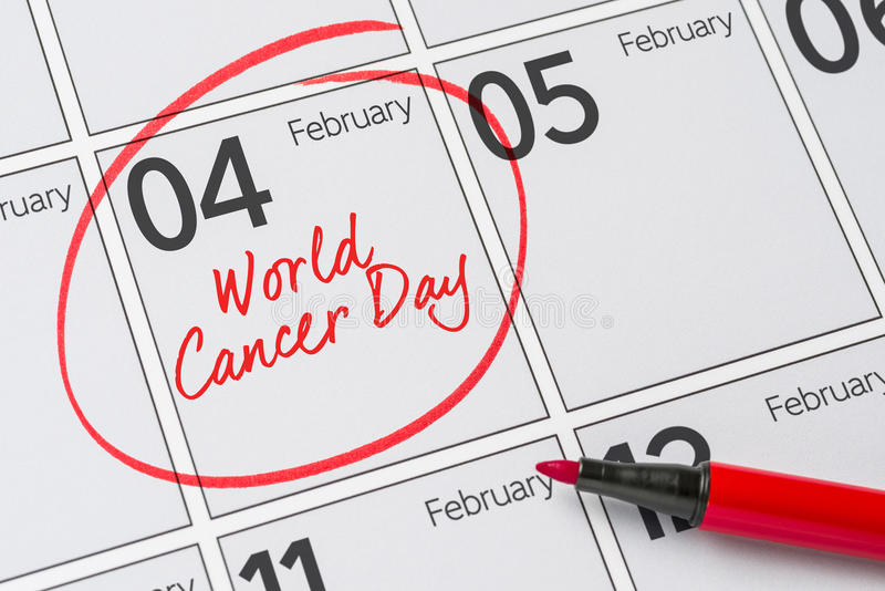 World Cancer Day. February 4 stock photography