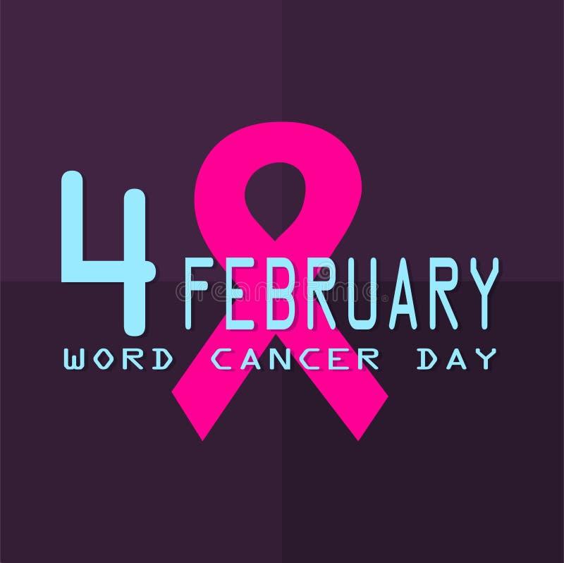 World cancer day. February 4. Illustration of World cancer day. February 4 stock illustration