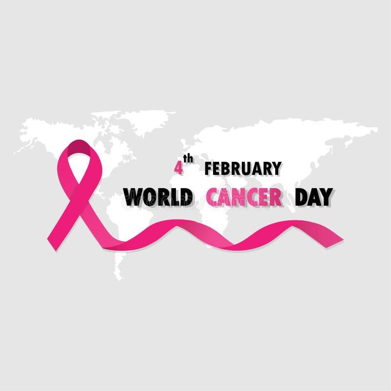 World Cancer Day 02 stock illustration