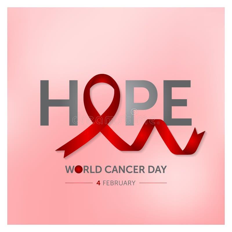 4 february world cancer day concept design vector illustration vector illustration
