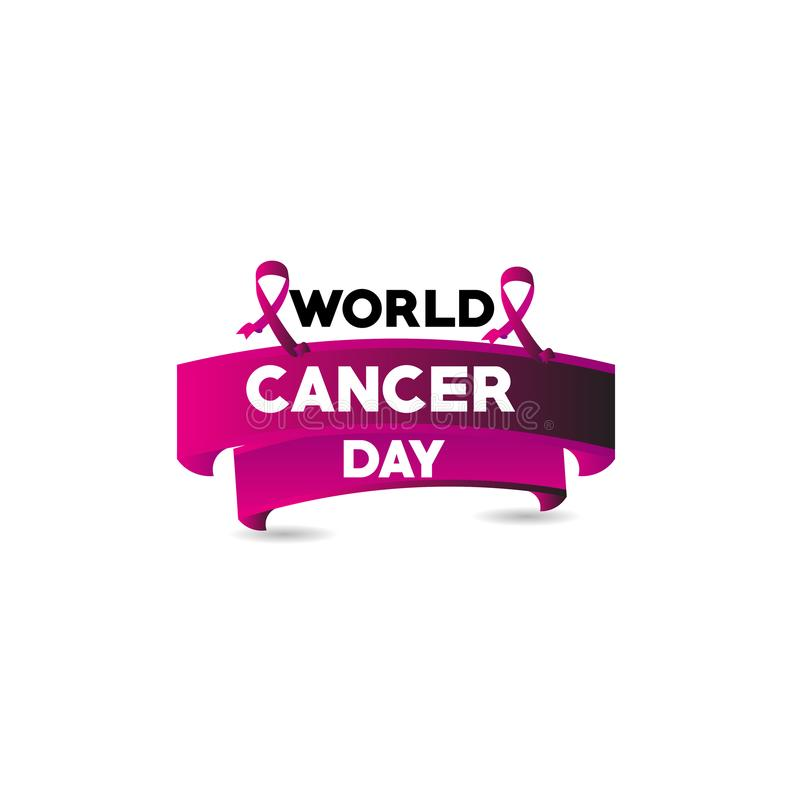 World Cancer Day Vector Template Design Illustration. Cancer Day Vector Template Design Illustration royalty free illustration