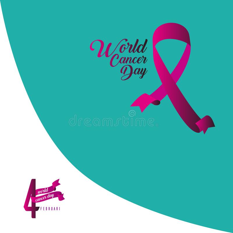 World Cancer Day Vector Template Design Illustration. Cancer Day Vector Template Design Illustration vector illustration