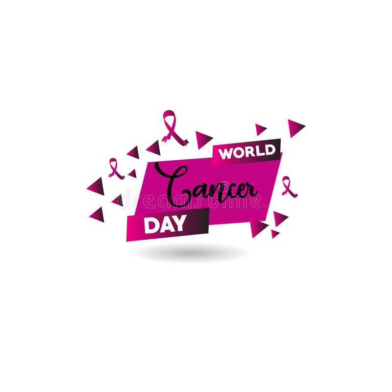 World Cancer Day Vector Template Design Illustration. Cancer Day Vector Template Design Illustration stock illustration