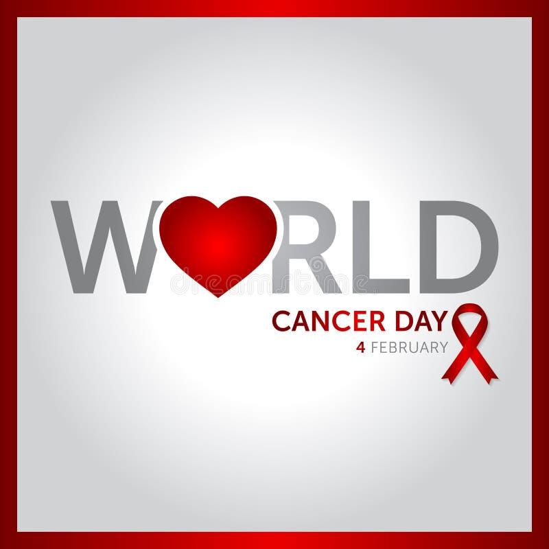 4 february world cancer day concept design vector illustration stock illustration