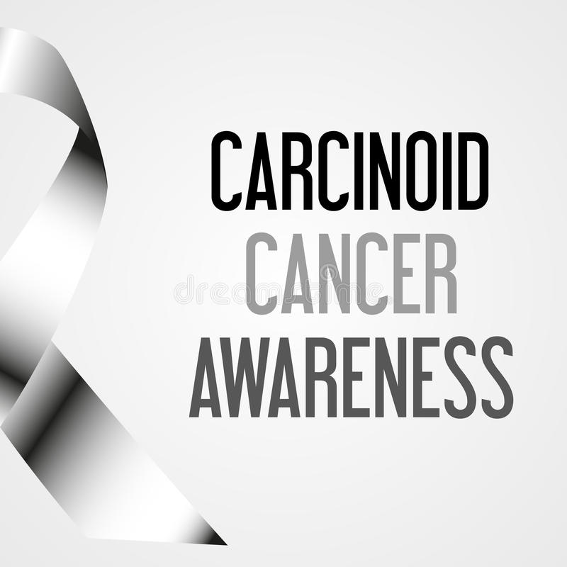 World carcinoid cancer day awareness poster royalty free illustration