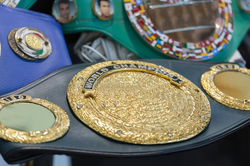 World Champion Boxing Belt: Symbool voor de Winnaar royalty-vrije stock afbeeldingen