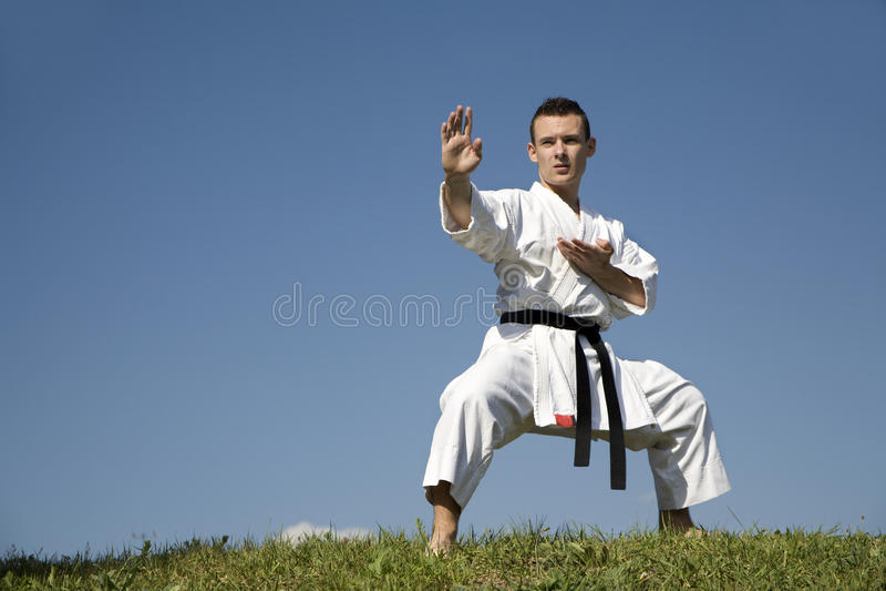 World champion of karate - kata royalty free stock image
