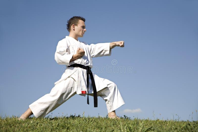 World champion of karate - kata stock images