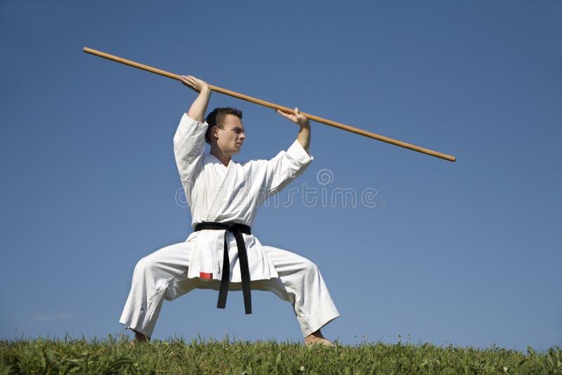 World champion of karate - kata stock photo