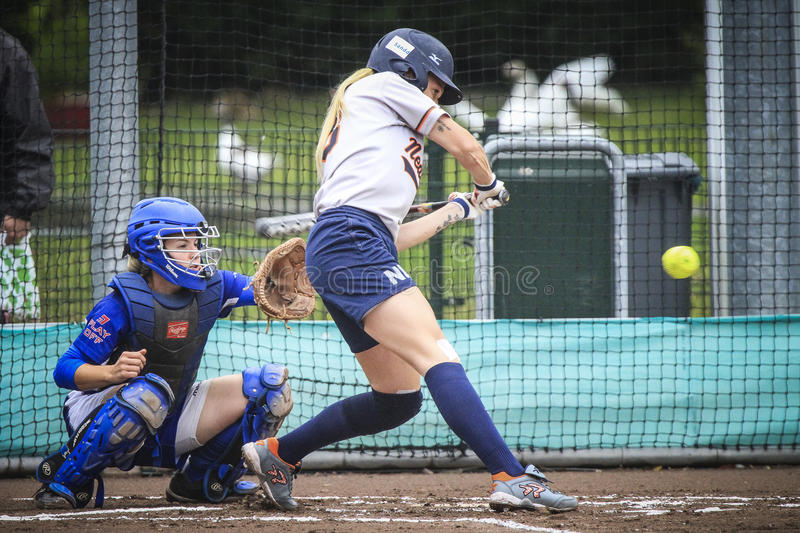 World Championship Softball 2014. The World Championship Softball, Haarlem, NL, Pictures taken on Sunday August 17, 2014 royalty free stock images
