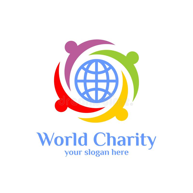 World charity logo template. world adobtion vector icon. S vector illustration