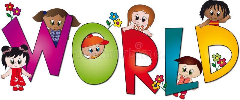 Download World of children stock illustration. Image of flowers - 11857251