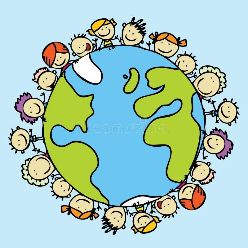 Download World of children stock vector. Image of around, globe - 25783793