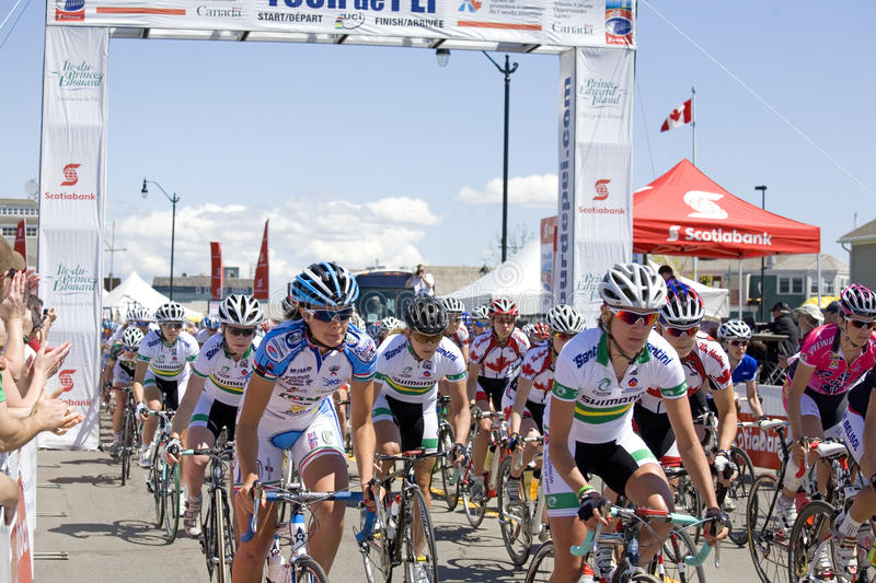 Download World Class Women's Cycling Race - Tour De PEI Editorial Stock Image - Image: 9706584