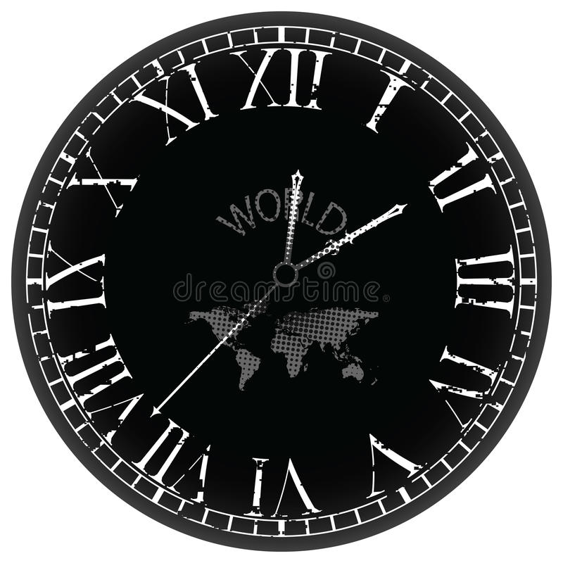 Download World clock stock vector. Illustration of space, pattern - 16757533
