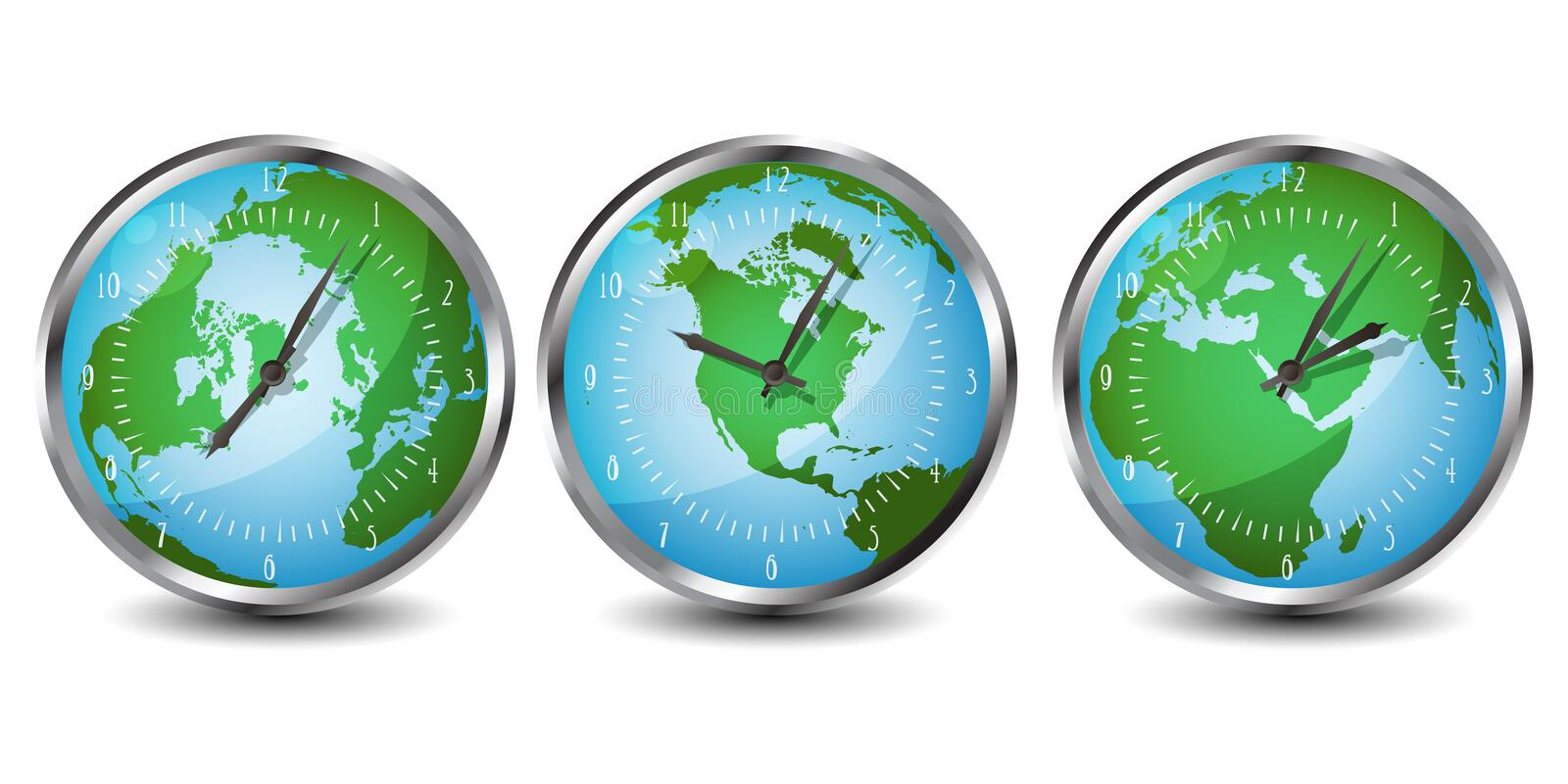 World clocks royalty free illustration