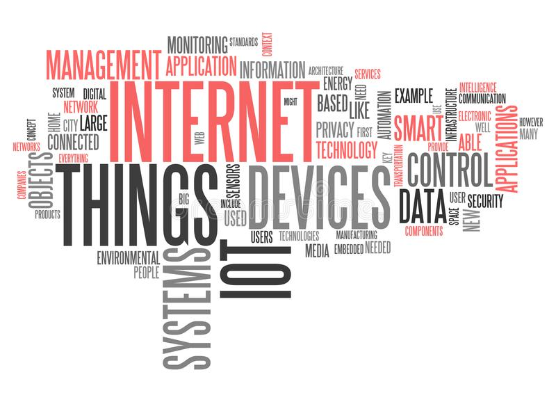 World Cloud Internet Of Things vector illustration