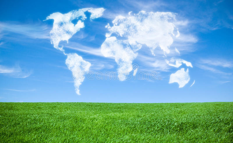 Download World of clouds stock image. Image of worldwide, design - 15925083