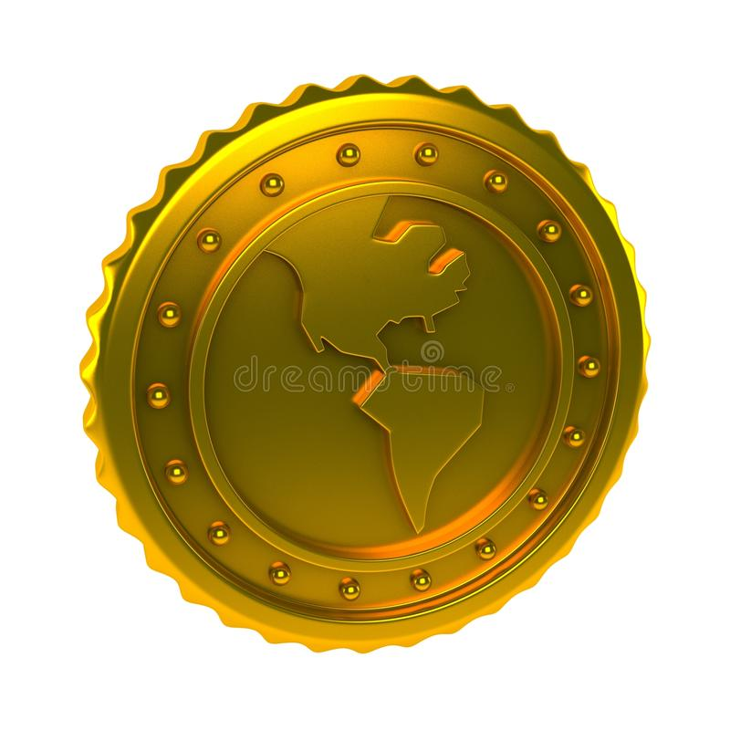 World Coin royalty free illustration