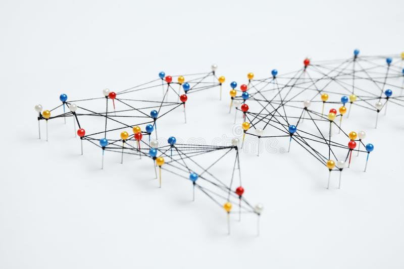 World community and network. Business infrastructure royalty free stock image