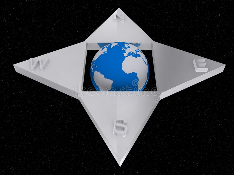 World compass royalty free illustration