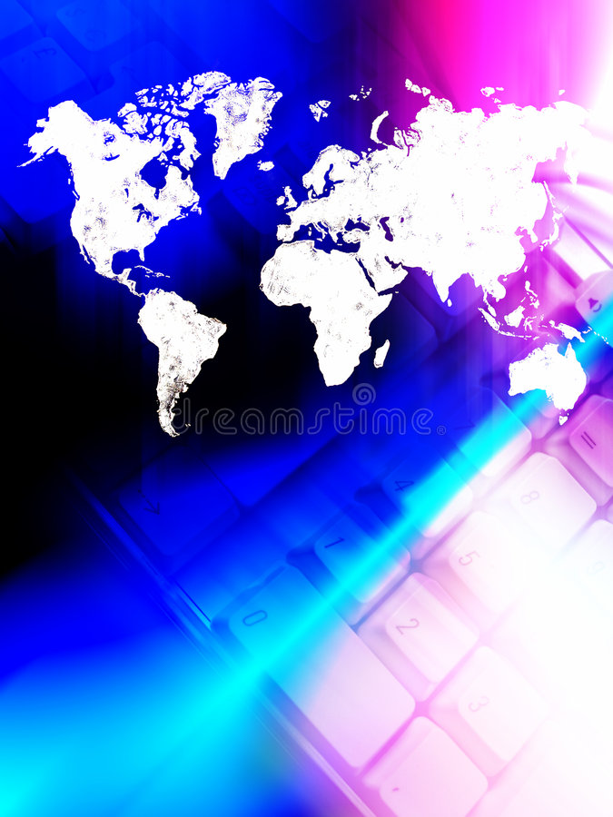 World connected stock illustration