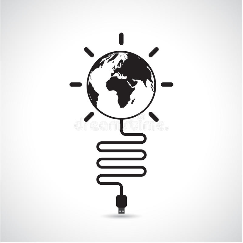 World connections network design,global internet concept,network earth icon. royalty free illustration