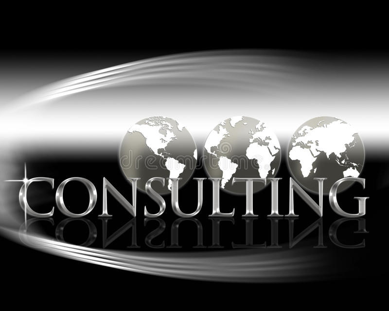 World Consulting stock illustration