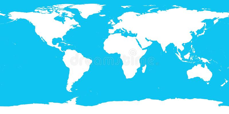 World Contour Continents Royalty Free Stock Photo