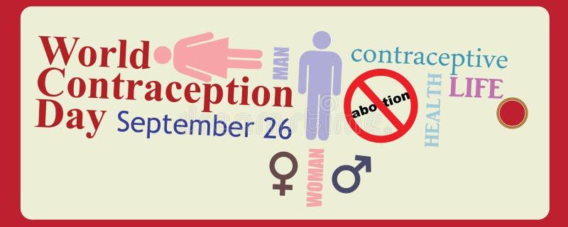 World Contraception Day stock illustration