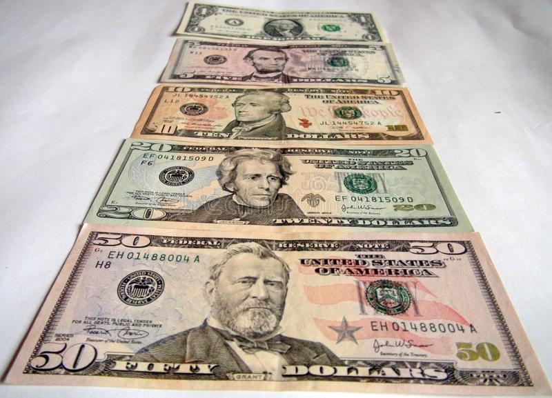 World convertible currency banknotes. United States Dollars, British Pounds and Euros. World convertible currency banknotes. Leading currencies of the world: US stock photography