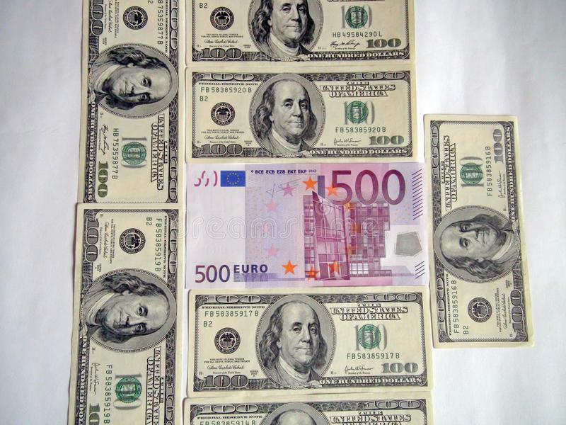 World convertible currency banknotes. United States Dollars, British Pounds and Euros. World convertible currency banknotes. Leading currencies of the world: US stock images